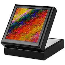 Rainbow Abstract Keepsake Box