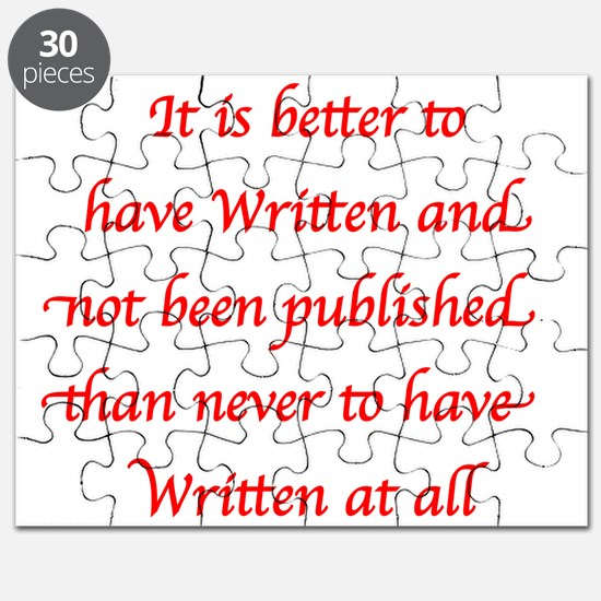 Red - Better to have Written and not been Publishe