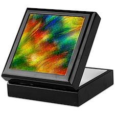 rainbow colors abstract Keepsake Box