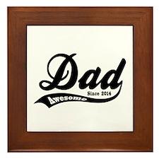 Awesome Dad Since 2014 Framed Tile