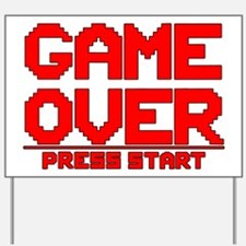 Game Over Yard Sign