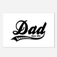 Awesome Dad Since 2011 Postcards (Package of 8)