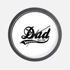 Awesome Dad Since 2011 Wall Clock