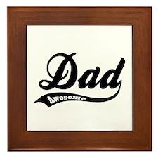 Awesome Dad Framed Tile