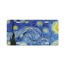 Van Gogh's Starry Night Aluminum License Plate