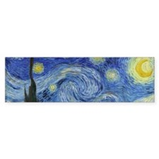 Van Gogh's Starry Night Bumper Sticker