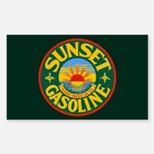 Sunset Gasoline Sticker (Rectangle)