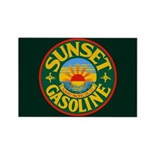 Sunset Gasoline Rectangle Magnet