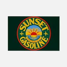 Sunset Gasoline Rectangle Magnet
