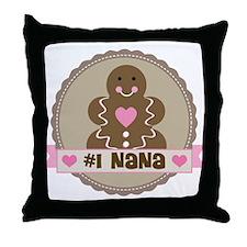Number One Nana Throw Pillow