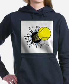 tennis ball rip thru copy.jpg Hooded Sweatshirt