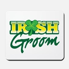 Irish Groom with shamrock Mousepad