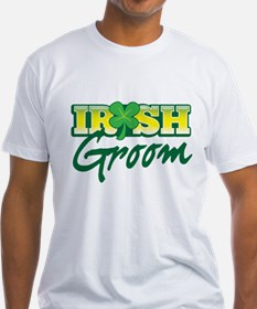 Irish Groom with shamrock T-Shirt