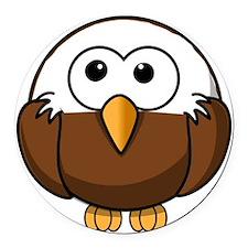 Bald Eagle Round Car Magnet