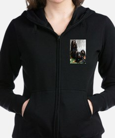 Gordon Setter Generations Painting Zip Hoodie