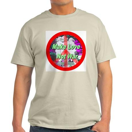 Make Love Not War Three Grace Light T-Shirt