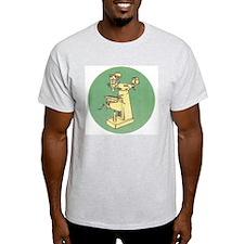 Milling Machine T-Shirt Grey