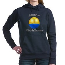 smile its a full moon.png Hooded Sweatshirt