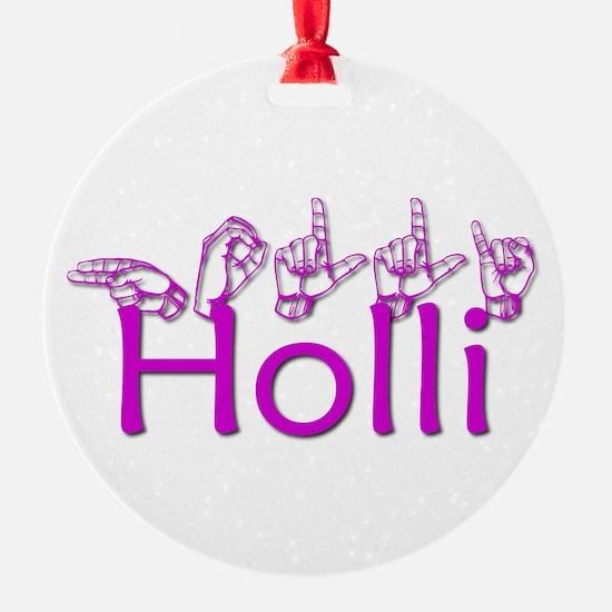 Holli In ASL Ornament