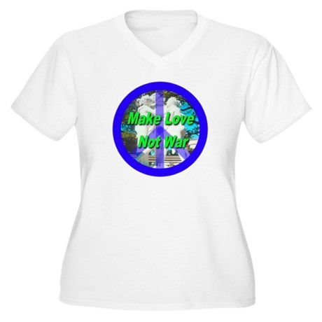 Help promote world peace with Women's Plus Size V-