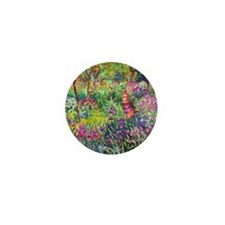 The Iris Garden by Claude Monet Mini Button