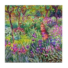 The Iris Garden by Claude Monet Tile Coaster