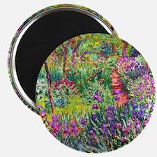 The Iris Garden by Claude Monet Magnet