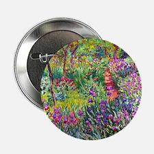 """The Iris Garden by Claude Monet 2.25"""" Button"""