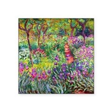 "The Iris Garden by Claude M Square Sticker 3"" x 3"""