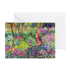 The Iris Garden by Claude Monet Greeting Card