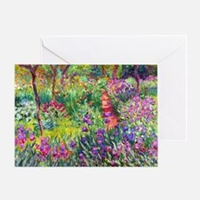 The Iris Garden by Claude Monet Greeting Card
