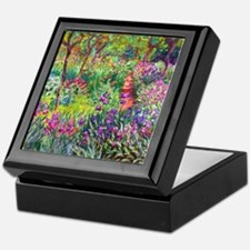 The Iris Garden by Claude Monet Keepsake Box