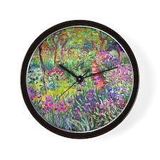 The Iris Garden by Claude Monet Wall Clock