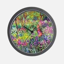 The Iris Garden by Claude Monet Wall Clock