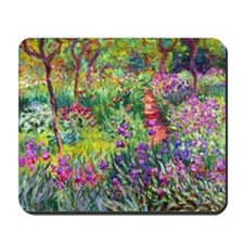 The Iris Garden by Claude Monet Mousepad