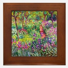 The Iris Garden by Claude Monet Framed Tile