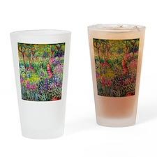 The Iris Garden by Claude Monet Drinking Glass
