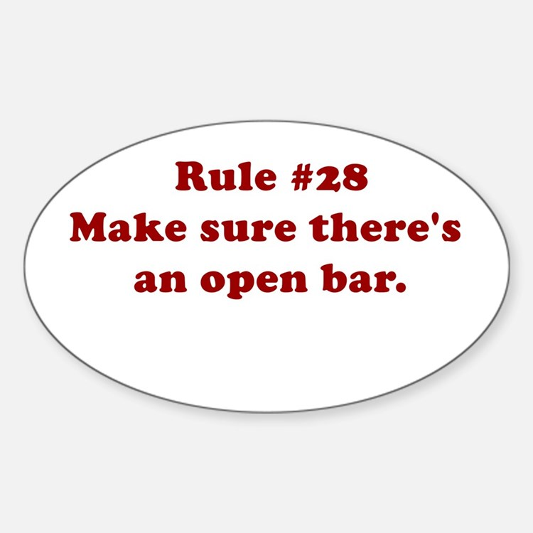 Rule #28 Oval Decal