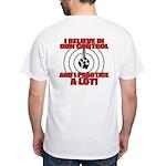 Evil Conservative Gun Control White T-Shirt