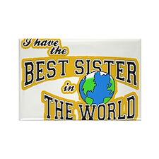 World's Best Sister Rectangle Magnet