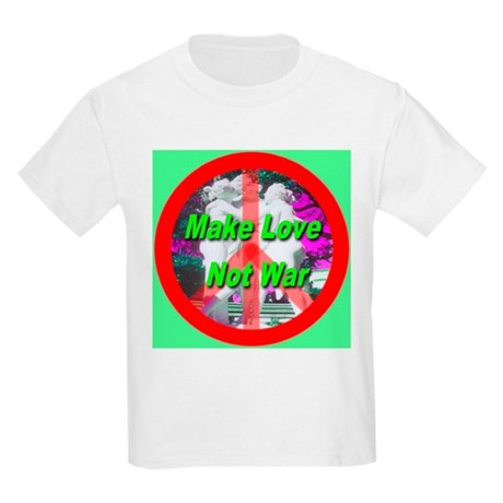 Make Love Not War Three Grace Kids Light T-Shirt