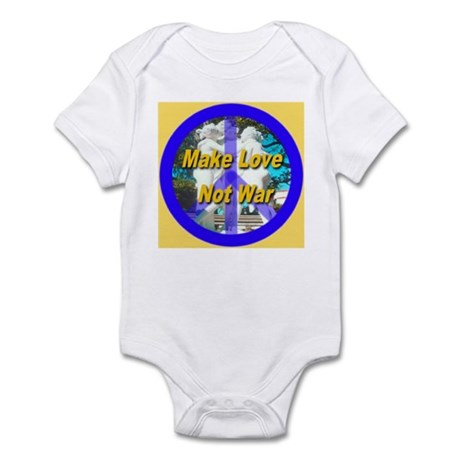 Make Love Not War King's Gold Infant Bodysuit