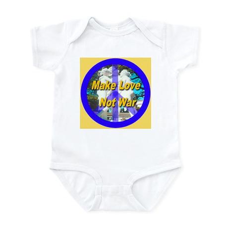 Make Love Not War King's Gold Infant Bodysuit