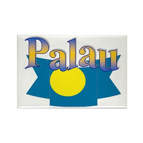 Palau flag ribbon Rectangle Magnet