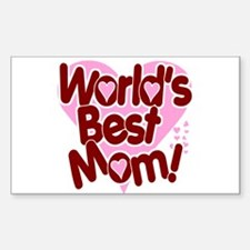 World's BEST Mom! Rectangle Decal