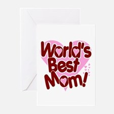 World's BEST Mom! Greeting Cards (Pk of 10)