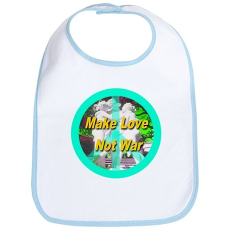 Make Love Not War Peace Symbo Bib