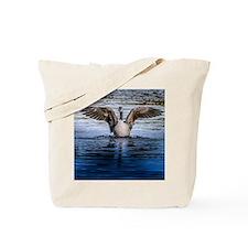 Hug of canadian geese Tote Bag