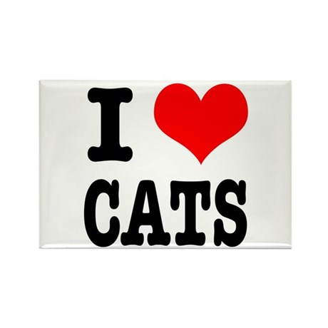 I Heart (Love) Cats Rectangle Magnet (100 pack)