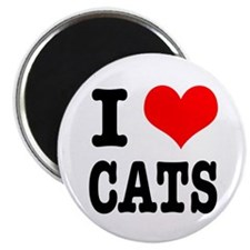 """I Heart (Love) Cats 2.25"""" Magnet (100 pack)"""